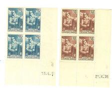 TIMBRES FRANCE BLOC DE 4 COINS DATE YVERT N° 386 ET 87 SOLDAT