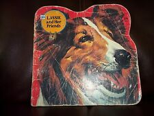 Lassie and Her Friends Vintage Golden Shape Book.1975.Decent Shape.Free Shipping