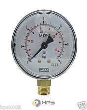 WIKA Vakuum Manometer senkrecht  Ø63mm 1/4 Zoll Anschluss verschiedenene Typen