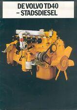 Volvo TD40 Dieselmotor Prospekt NL 1985 Broschüre Lastwagen Nutzfahrzeug Sverige