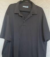 Roundtree & Yorke Mens 3XLT Black Short Sleeve Performance Polo Shirt EUC