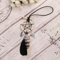 Mini handmade dream catcher with feather wall or car hanging decoration ornam,p