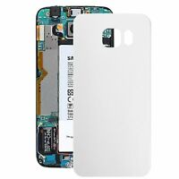Samsung Galaxy S6 Edge Vetro Cover Retro Batteria Copertura Posteriore Bianco