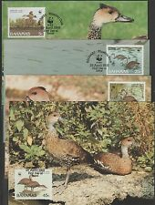 V1823 Bahamas/WWF 1988 uccelli MiNr 672/75 a 4 Maxicard