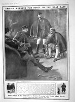 Original Old Antique Print 1909 British Bonham Gendarmerie Macedonia Ear 20th