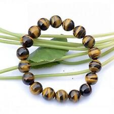 8MM Natural Color Tiger Eye Stone Gemstone Beads Men Jewelry Bracelet Bangle ZH