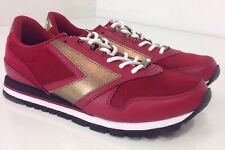 NEW Brooks Chariot 110178-1D-698 Red Suede Fashion Shoes Medium 9 Men