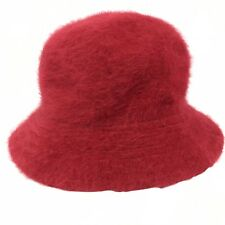 Vintage D&Y David & Young Womens Red Soft Angora Fedora Hat One Size Casual