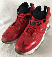 Nike LeBron XIII GS Basketball Shoes Red Black 808709-610 Boy's Youth Size 7Y