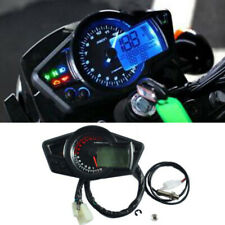 Motorcycle 15000RPM LCD Digital Display Odometer Speedometer Tachometer Gauge