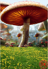 FAIRY MAGIC GARDEN TOADSTOOL KIDS BACKDROP BACKGROUND PHOTO PROP 5X7FT 150x220CM