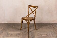 CROSS BACK CHAIR OAK AND RATTAN KITCHEN CHAIR BENTWOOD DINING CHAIR