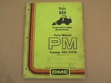 Mustang 880 Front End Loader Articulated Parts Manual Catalog Owatonna 1976
