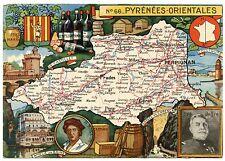 CARTE DU DEPARTEMENT PYRéNéES ORIENTALES. 66 J.P.PINCHON. BLONDEL LA ROUGERIE