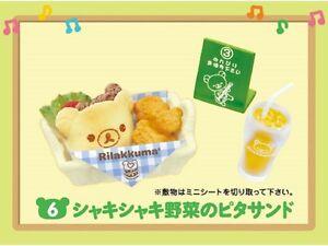 Re-ment San-X Rilakkuma Maku Maku Breakfast Hamburger Shop Pita-sand - No.6