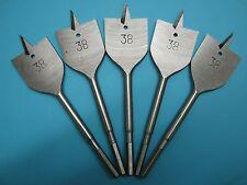 Machine Flat Wood Drill Bit 38mm x 5 - Flat Head Bit Cutter 38mm