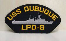 USS Dubuque LPD - 8 with ship design Patch Patches USN US Navy USA Military NEW
