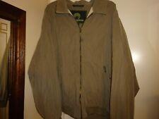 Men's WEATHERPROOF Light Olive Green Full Zip Jacket Size XXL Collar 2 Pockets
