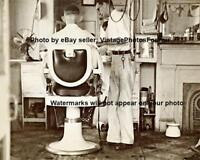 Vintage Old Antique 1935 New Orleans Barber Shop Chair Haircut Photo Picture