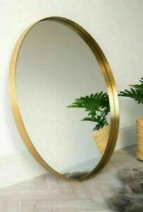 80cm x 80cm New Large Gold round Circular Bevelled Wall Mirror Hallway Mirror
