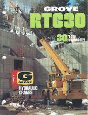 Equipment Brochure - Grove - Rt630 - Hydraulic Crane - 3 items - c1980 (E4050)