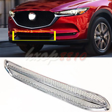 ABS Chrome Front Lower Radiator Hood Grille Grill Trim For Mazda CX-5 2017-2018