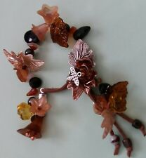 Autumn Leaves (2) Arthritis Rheumatism Crystal Healing Magnetic Thearpy Bracelet