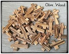 Lot 50 Olive Wood Crosses Holy Land Rosary Bethlehem Hand Made Crosses Retail