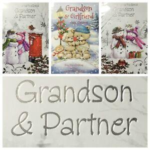 "GRANDSON AND PARTNER CHRISTMAS CARD 5.5""x7.5"" (XMAS5)"
