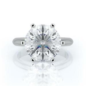 3 CARAT G SI1 ROUND CUT DIAMOND SOLITAIRE ENGAGEMENT RING 14K WHITE GOLD