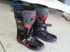 Alpinestars Tech 3 Motorcycle Riding Boots sz 11 dirt bike motocross black/red
