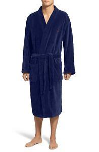 New Polo Ralph Lauren Cotton Fleece Robe L/XL Navy L0726