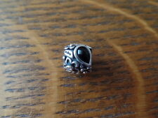 Authentic Pandora Dew Drops on Flowers Sterling Onyx Diamond 14k