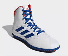 Adidas Mat Wizard 4 Men's Size 9 White Red Royal Blue Wrestling Shoes BC0533