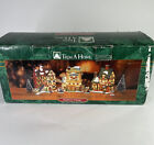 Trim-a-Home BAYBERRY 10 Piece Set Lighted Christmas Village House w/ Cords CLEAN