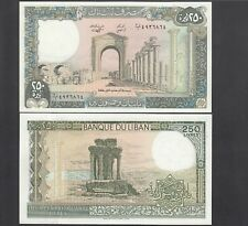Lebanon 250 Livres 1988 P.67 Uncirculated Unc