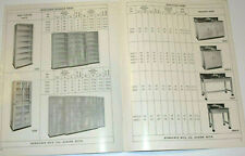 VINTAGE 1940s METAL INDUSTRIAL LABORATORY FURNITURE CATALOG! CABINETS/SINK/SHELF