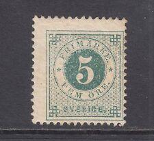 Sweden Sc 30 MLH. 1877 5o dark green Numeral