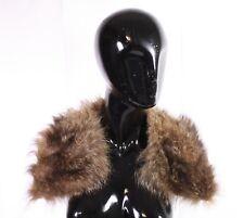 WAN-12 Pelzkragen Fellkragen echt Pelz braun für Mantel Jacke Vintage