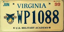 U.S. Military Academy license plate West Point Army USMA black Knights NCAA Mule