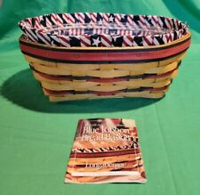 Longaberger Blue Ribbon Bread Basket Combo, 1999 Al 00001E3D l American Collection