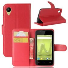 Cover Wallet Premium Red for Wiko Sunny 2 Case Pouch Protective Accessories