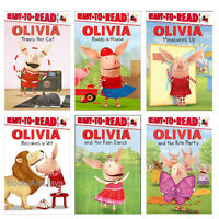 Ready to Read Lvl 1 Olivia Becomes a Vet,Trains Her Cat,Rain Dance (6 Paperback)