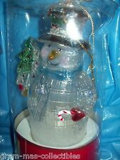 LIGHT UP ORNAMENT SNOWMAN PIG TAIL LIGHTW/CHRISTMAS TREE USEWITH ANY  LIGHT  SET
