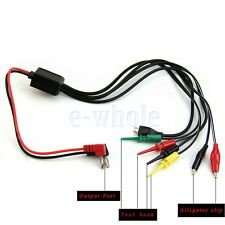 Power Supply Test Lead Cable Kit 2 Alligator Clips 2 Banana Plugs 4 Hook Clip TW