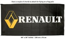 FREE SHIP TO USA RENAULT Black FLAG BANNER SIGN 30x60 inches megane fluence clio