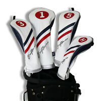 Craftsman Golf Pu Leather White Blue Red Driver/Fairway Wood/Hybrid Headcover