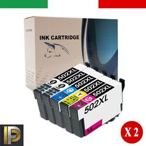 10 Cartucce T502XL Compatibili Per Epson WF-2860/2865 XP-5100/5105