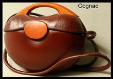 DER HINGUCKER : NEU Handtasche SCHULTERTASCHE Ledertasche LEDER Koffer RUND Top*
