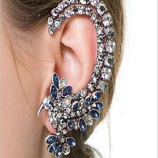 Vogue Womens Silver Hummingbird Tyle Crystal Iced out Ear Cuff Clip Earringid887